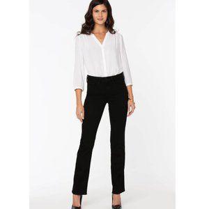 NYDJ Marilyn Straight Jeans in Black NWT